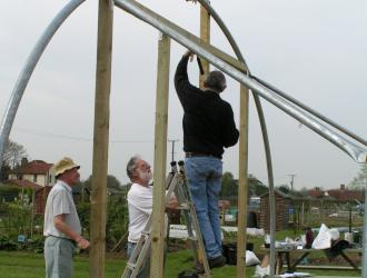Capel St Mary Allotments Association reaching high on the polytunnel project