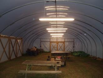 New lighting in poly tunnel 30th June 2012